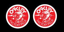 OAKLEY VINTAGE MOTOCROSS STICKERS (2 pcs) HONDA SUZUKI KAWASAKI YAMAHA KTM