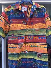 THE TERRITORY AHEAD Men's Large Tall Cotton Multicolored Sun Flower Shirt