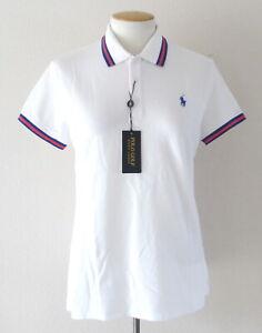 NEW Polo Golf Ralph Lauren Women's Tailored Fit Shirt White/Red Top $98.50 M XL