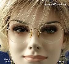SHURON Rimway Ful-Vue 12K Gold Fill True Antique Eyeglasses & Case