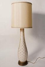 "STUNNING VINTAGE HOLLYWOOD REGENCY PORCELAIN AND BRASS GIRAFFE TABLE LAMP 38"" T"
