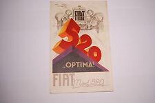 CATALOGUE / BROCHURE FIAT 520 OPTIMA  DE 1920 EN COULEUR