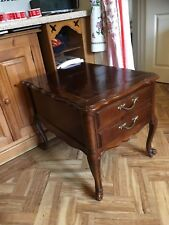 Antique style Hammary US brand chair side drawer end table chest mahogany