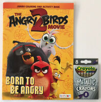 Angry Birds 2 The Movie Jumbo Coloring & Activity Book + Metallic Crayons