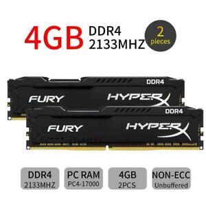 Kingston HyperX Fury 8GB 2x4GB DDR4 2133MHz PC4-17000 DIMM Desktop Memory RAM BT