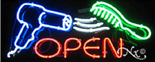 "New ""Open"" 32x13 W/Logo Real Neon Sign w/Custom Options 10387"