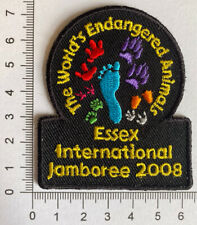 Sew on Camp Blankets Essex International Jamboree 2016  Scout And Guide Badge