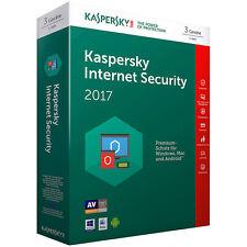 Kaspersky Internet Security 2017 mit 3 Lizenzen (PC / Mac)