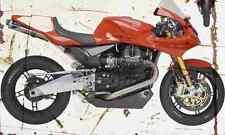 MotoGuzzi MGS 01 Corsa 2005 Aged Vintage SIGN A3 LARGE Retro