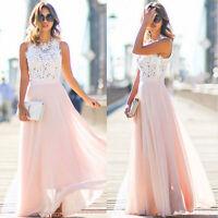 Spitze Abendkleid Partykleid Sommerkleid Strand Kleid rosa lila pink blau BC337