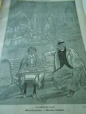 Au Jardin de Cluny Monstres anciens et modernes Print Art 1893
