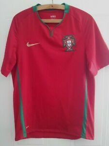 Portugal Football Shirt Euro 2008 Nike Home Soccer Jersey Top Camiseta Mens Size