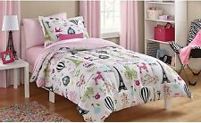 NEW! Mainstays KIDS PARIS Bed In A Bag Bedding SET (TWIN SIZE) PINK GIRLS ROOM