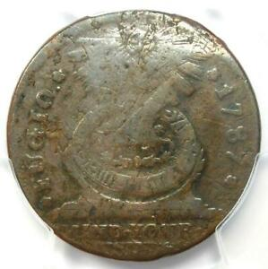 1787 Fugio Cent 1C Copper Colonial Coin - Certified PCGS Fine Details - Rare!