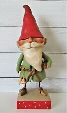 "Janell Berryman's Pumpkinseeds Primitive Folk Art Gnome Statue RARE 17.25"" Tall"