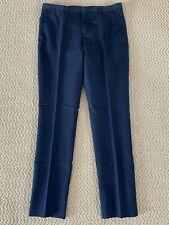 NWT J.Lindeberg Paulie Navy Blue Linen Wash Cotton Blend Slim Fit Pants $295