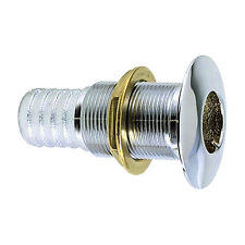 """Perko 1"""" Thru-Hull Fitting f/ Hose Chrome Plated Bronze MADE IN THE USA"""