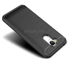 For Huawei Honor 6A Carbon Fibre Gel Case Cover & Glass Screen Protector