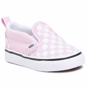 VN0A3488UY41 VANS Slip-On V Checkerboard (Lilac Snow) Toddler Shoes Size 4.5