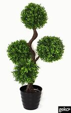 New Indoor Outdoor Realistic  Artificial Large 90cm UV Boxwood Topiay Tree Plant