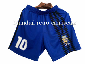 Maradona batistuta Argentina world cup 1994 Short pantaloncini Away (retro)