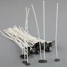 "50pcs 8"" Hottest Wicks Cotton Core Pre Waxed With Sustainers Candle Making Mould"