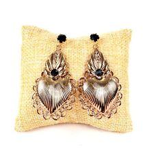 Orecchini con pendente sacro cuore color oro ramato