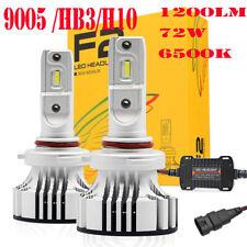2019 F2 Cree Auto LED Headlight Kit 72W 12000Lm/Set 9005/HB3/H10 Color White 650