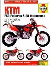 HAYNES SERVICE MANUAL KTM 400 EXC, 520 EXC & 525 EXC 2000-07, 250 EXC 2002-2006