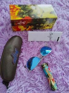 New Maui Jim Baby Beach Polarized Titanium Sunglasses B245-17 Silver/Blue Hawaii