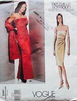 Vogue 2481  Bellville Sassoon Designer EVENING GOWN & STOLE Pattern  Sz 8-12 UC