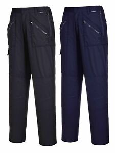 Portwest Ladies Action Trousers Womens Zip Pockets Knee Pad Elasticated S687