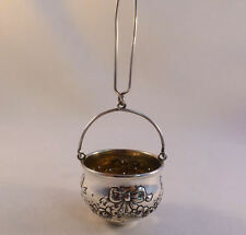 Beautiful Floral Sterling Tea Strainer Basket by J. F. Fradley New York