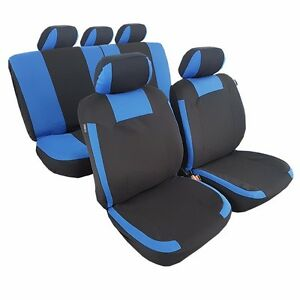 New 11pcs Polyester Complete Set Car Seat Cover For VW Ford Mazda