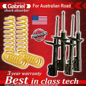 4 x Raised Gabriel Shock + Coil Spring for Toyota Kluger GSU40R FWD Wagon 07-14