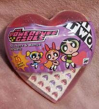 NEW Powerpuff Girls Valentines Heart Stickers & Bonus Jewels - 2002 Mello Smello