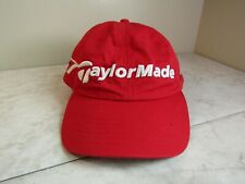 Taylor Made Tmax Gear R7 Golf Red/White Cotton Blend Baseball Hat Adj