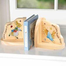 Beatrix Potter Peter Rabbit Traditionnel en Bois Serre-Livres Set - Nurserie