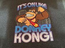 NINTENDO DONKEY KONG SHIRT 2 XL GREY