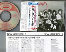 NEW YORK DOLLS st JAPAN CD 23PD-110 w/OBI+INSERT Johnny Thunders David Johansen