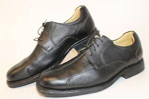 Belvedere Baybridge Mens 12 EEE Wide Black Leather Oxfords Comfort Dress Shoes