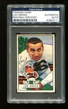 1951 Bowman Football Lou The Toe Groza Signed Auto Browns PSA/DNA #75 EX/MT+