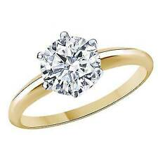 3.00 Ct Round Cut Solitaire Engagement Wedding Ring 10k Yellow Gold