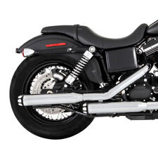 RINEHART 14-UP XL SPORTSTER SLIP-ON EXHAUST CHROME WITH CHROME SCALLOP END CAP