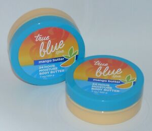 2 Bath & Body Works Vrai Bleu Mangue Lotion Tube Crème 24 Heure Hydratation