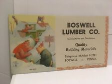 Old Boswell Lumber Co. Pa. Quality Building Materials Advertising Ink Blotter