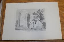 1794 Ireland Antiquity Print///SWORD'S CHURCH, COUNTY DUBLIN