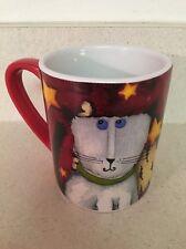 "Debbie Hron ""Cool Cats"" Gibson Home Red Ceramic Porcelain Mug"