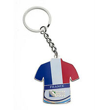 Rugby World Cup 2015 France Jersey Flag Key Ring