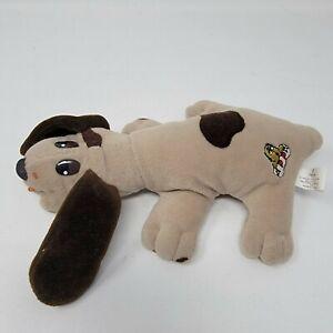 "1984 Irwin Toy POUND PUPPIES 9"" Plush Puppy Pre-Tonka Gray Hound Dog"